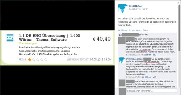 Screenshot der MLJ-Facebookpage vom 15.06.13, Anklicken zum Vergrößern