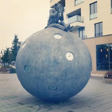 Der Zeitzähler, am Domfelsen in Magdeburg