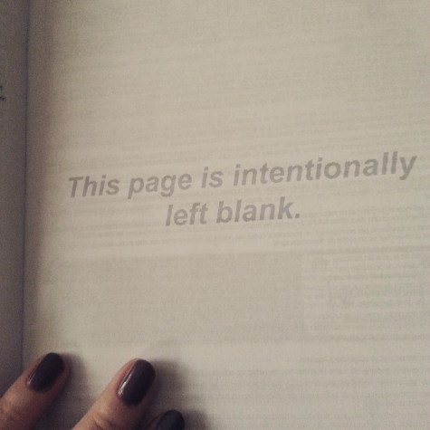 This Page Is Intentionally Left Blank ... what?