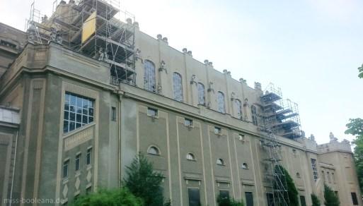 Die Stadthalle Görlitz war die Außenansicht des Grand Budapest Hotels und hier wurde auch die Dinner-Szene gedreht.