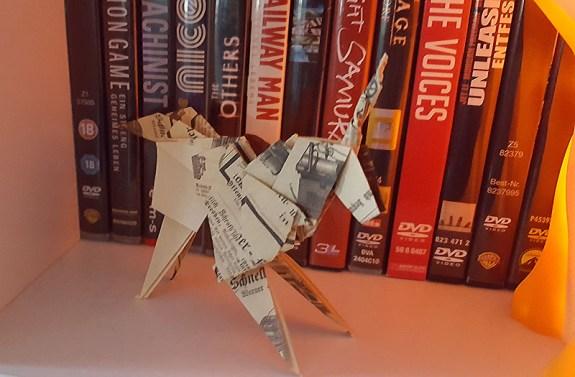 Origami Einhorn à la Blade Runner