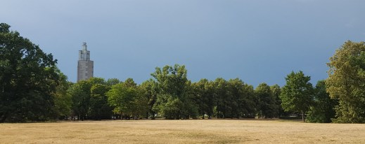 Der Stadtpark Magdeburg im trockenheißen Sommer 2018