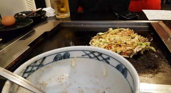 Okonomiyaki im Sakuratei selber machen