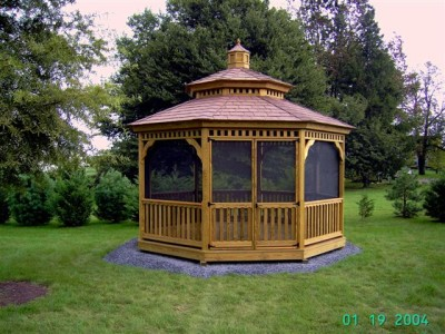 octagon gazebo. Black Bedroom Furniture Sets. Home Design Ideas