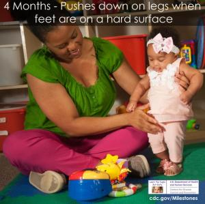 Навыки малыша в 4 месяца
