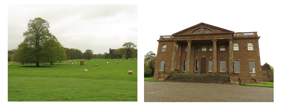 Berrington Hall landscape garden and Neoclassical house