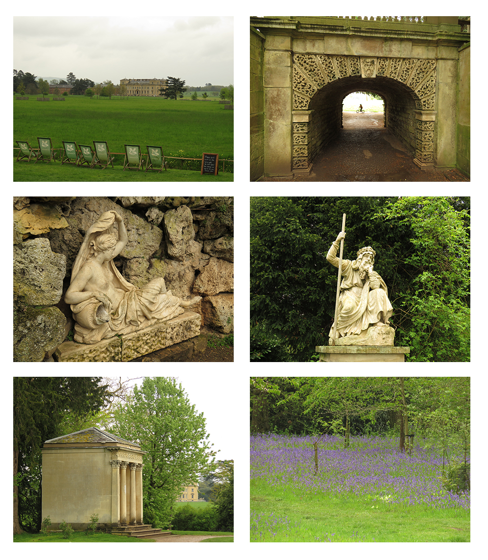 """The garden at the National Trust's Croome Court, a British stately home in the English countryside designed by Lancelot """"Capability"""" Brown."""