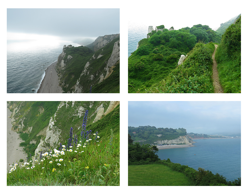 Views along the Devon seaside from Beer to Branscombe