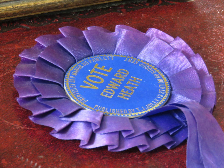 Sir Edward Heath Election Badge, Arundells, Salisbury