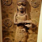 Close up of Benin metalwork