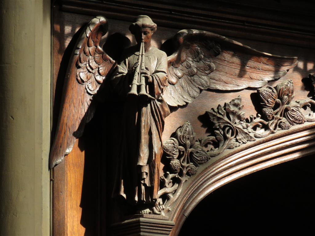 Carved Angel in Bath Abbey, England