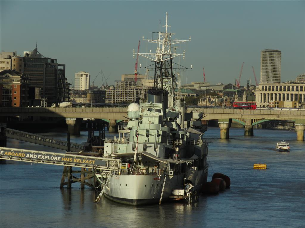 Visiting the HMS Belfast, London