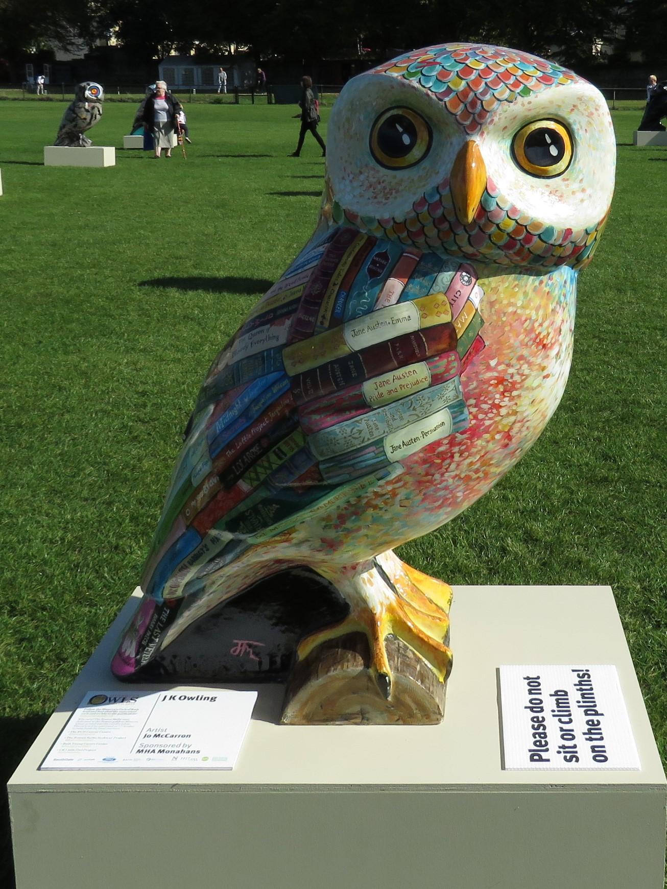 JK Owling, Minerva's Owls Art Trail, Bath, England