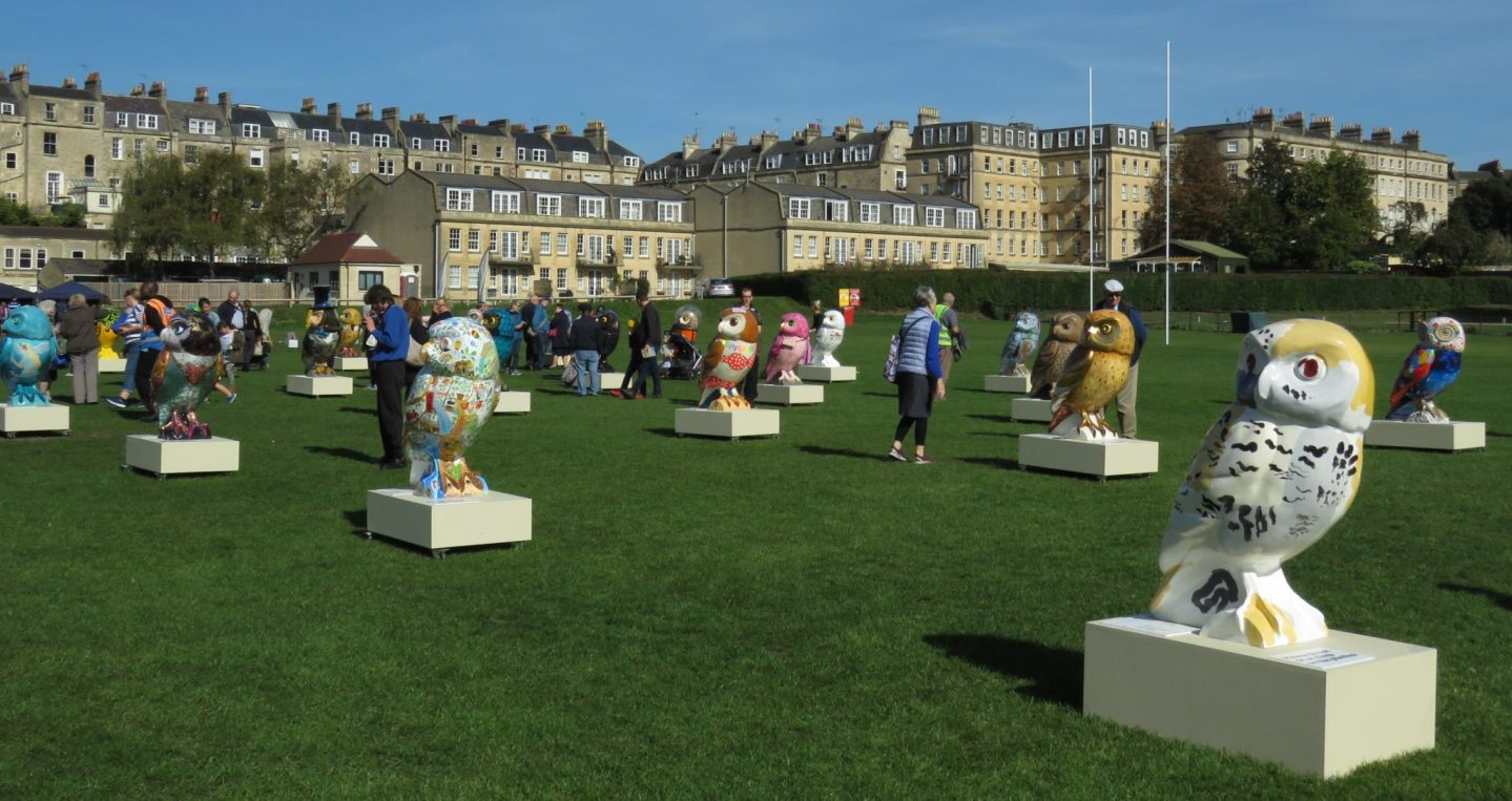Minerva's Owls Art Trail, Bath, England