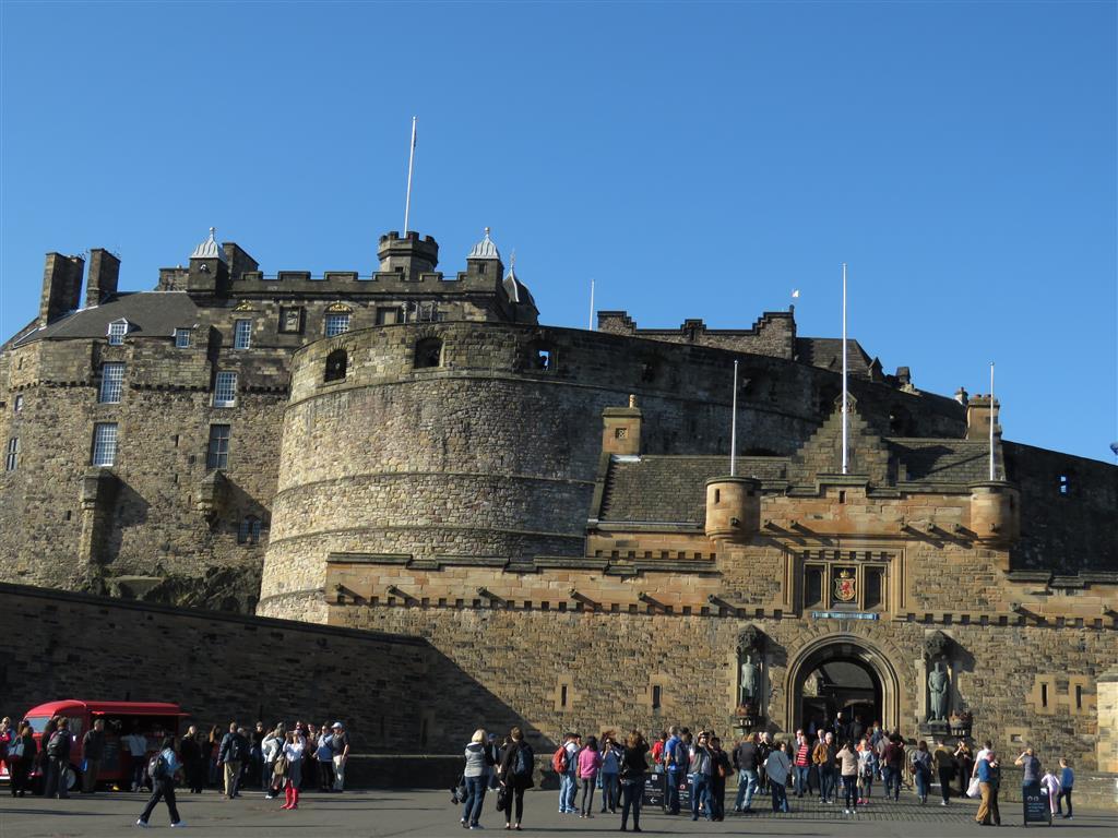 Visiting Edinburgh Castle, Scotland