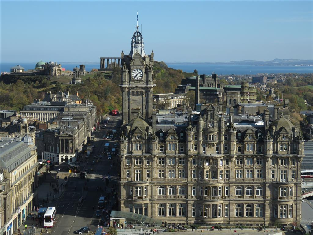 Views from the Scott Monument, Edinburgh, Scotland