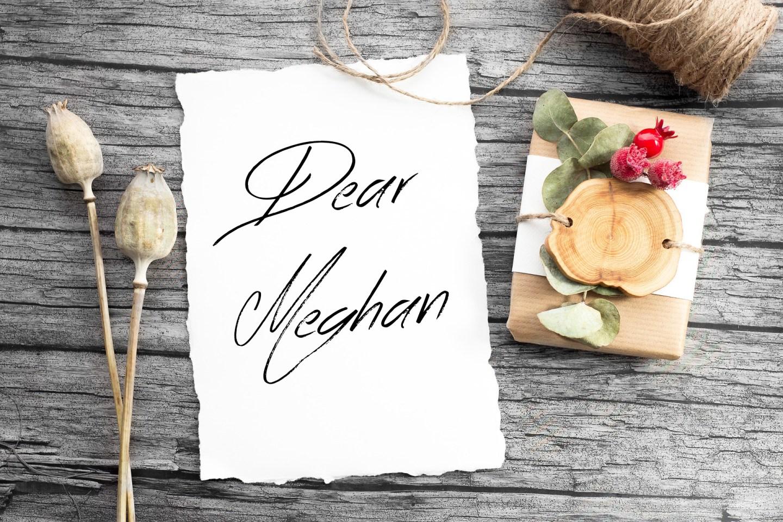 Dear Meghan: Congratulations!