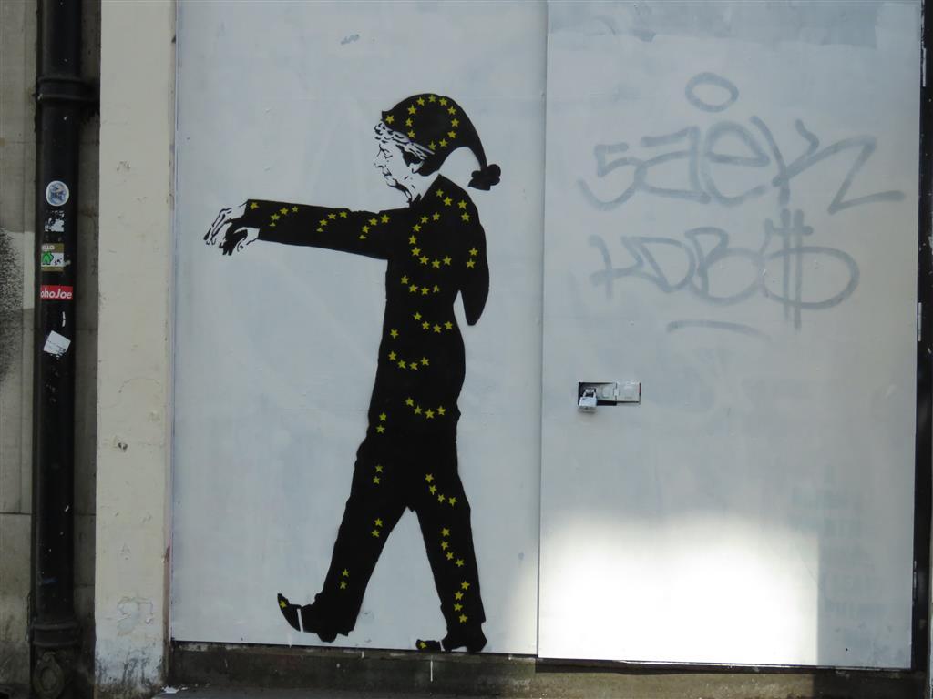 Anti-Brexit street art in London by Loretto