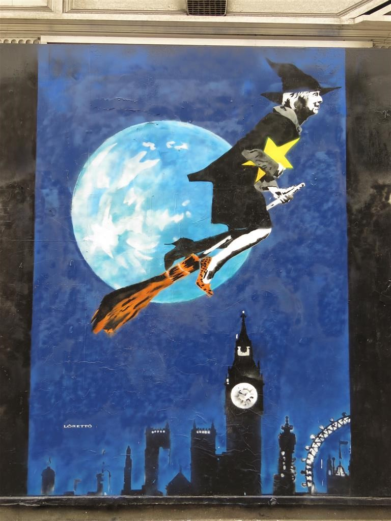 Anti-Brexit street art in London by Loretto