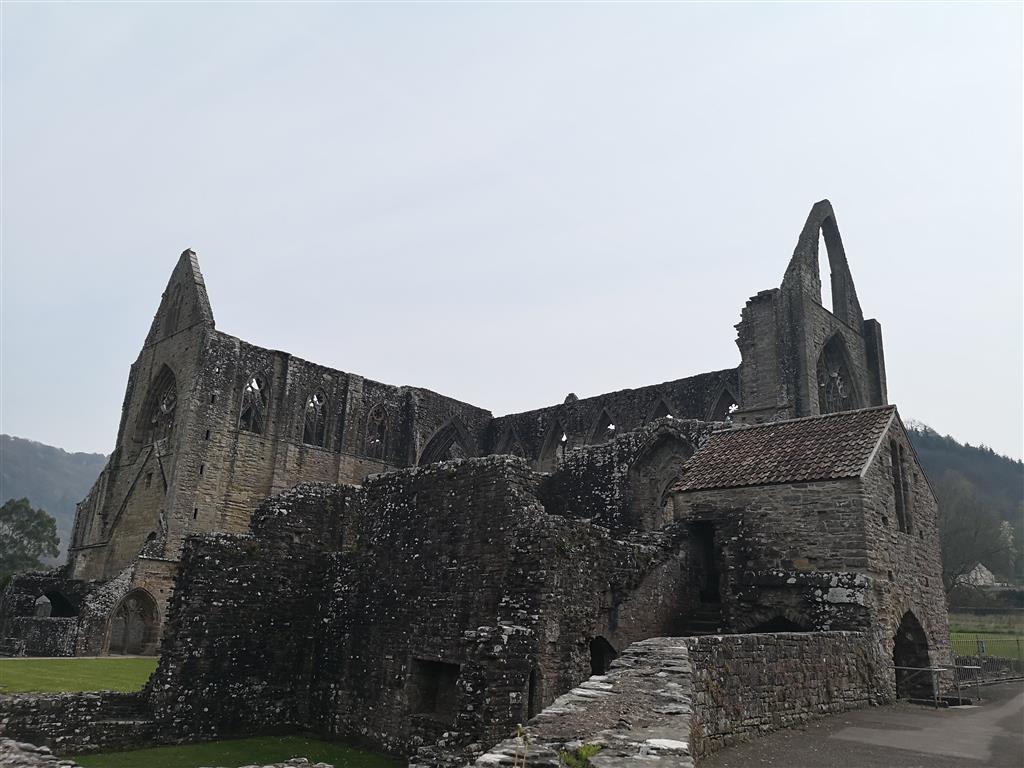 Visiting Tintern Abbey, Wales