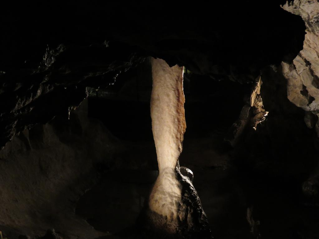 Alabaster Pillar at the National Showcaves Centre for Wales