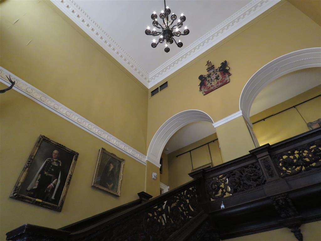 Grand staircase at Tredegar House, Wales