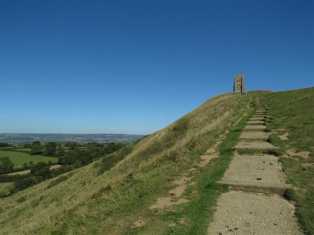 Approaching the top of Glastonbury Tor