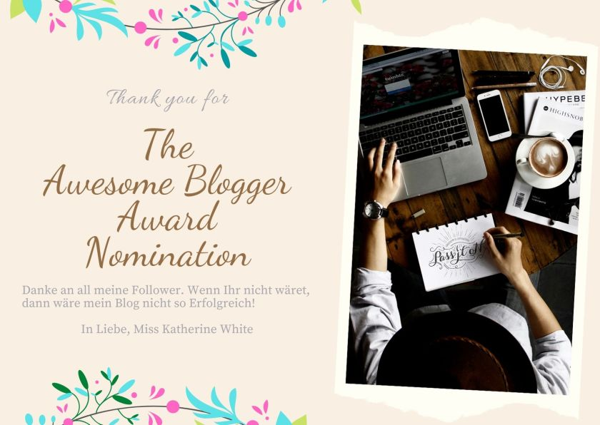 Thank you for the Awersome Blogger Award.