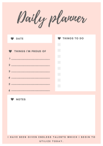 daily planner free printable miss mental