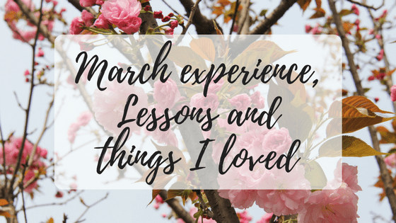 march experience, lessons and things I loved. Miss Mental banner