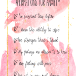 how to deal with panic attacks - Affirmations for anxiety. Anxiety disorders are hard to cope with but you can learn how to manage it. I give you all the tips you need to start learning how to deal with anxiety and panic attacks and focus on getting your mental health back. #mentalillness #anxiety #affirmations #positivity #panic