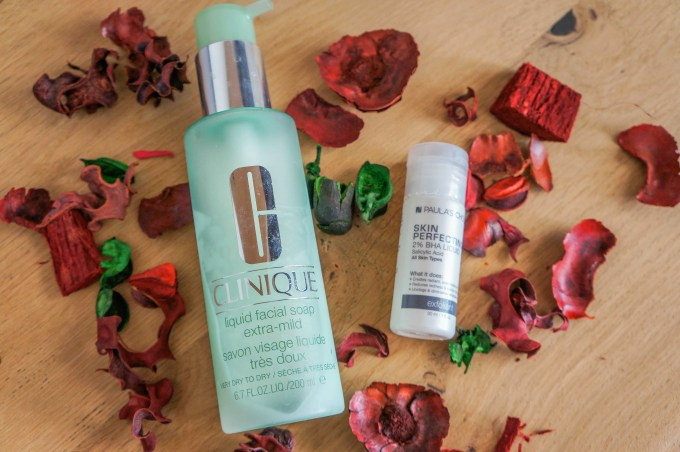 self-care routine and products | Clinique face wash, paula's choice BHA 2% | beauty products