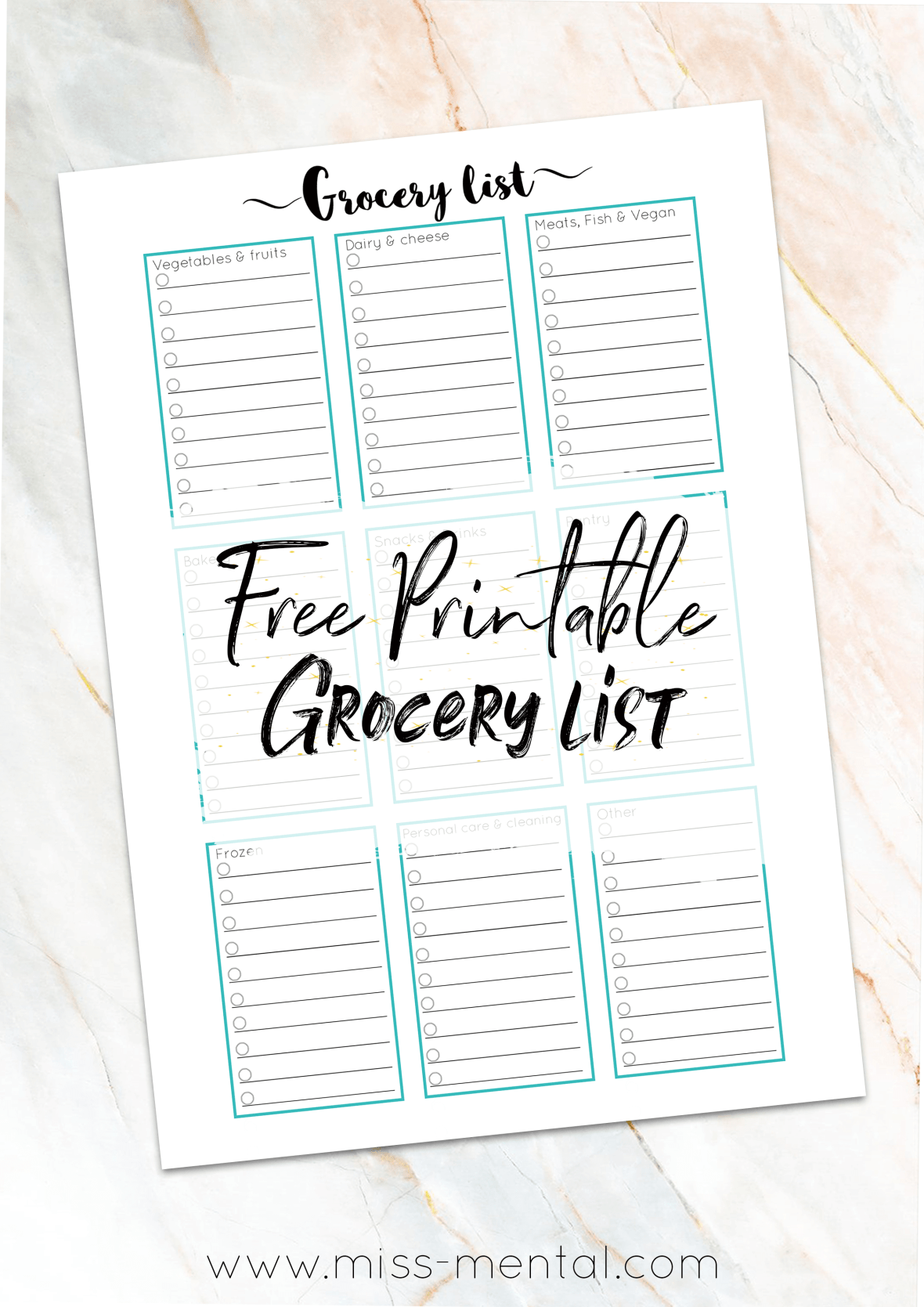 free printable grocery list walmart giveaway miss mental