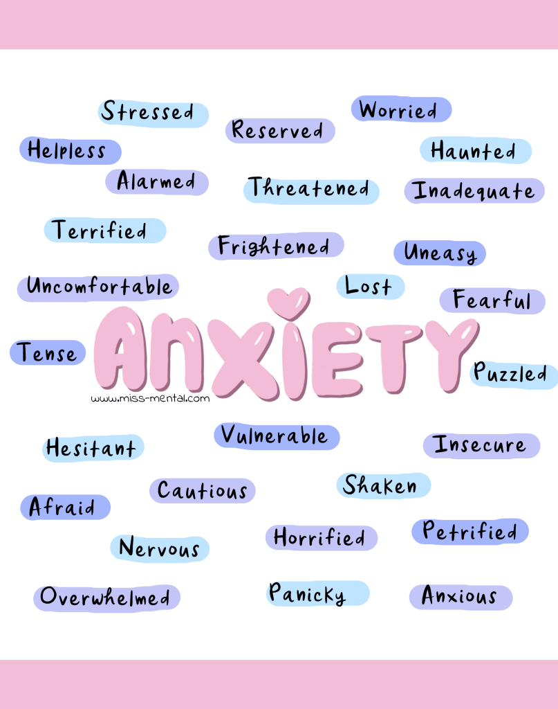 Sometimes you need a different word to let yourself and others know how you feel. Anxiety is an umbrella word for many feelings like terrified, lost, afraid etc. Improve your mental health with this personal development trick; Ask yourself 'what do I really feel' Are you anxious? or is there a word that fits better? The closer you can get to that feeling the better. #psychology