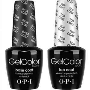 OPI GELCOLOR TOP COAT + BASE COAT