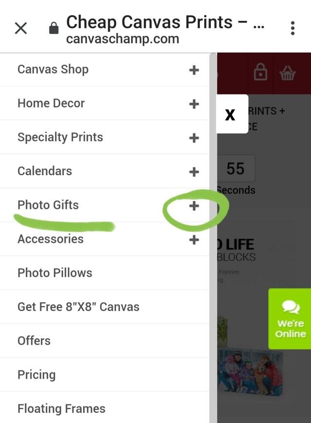 Select gift op