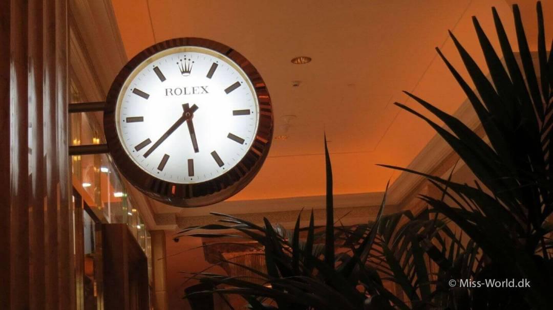 Giant Rolex watch, Emirates Palace Hotel Abu Dhabi
