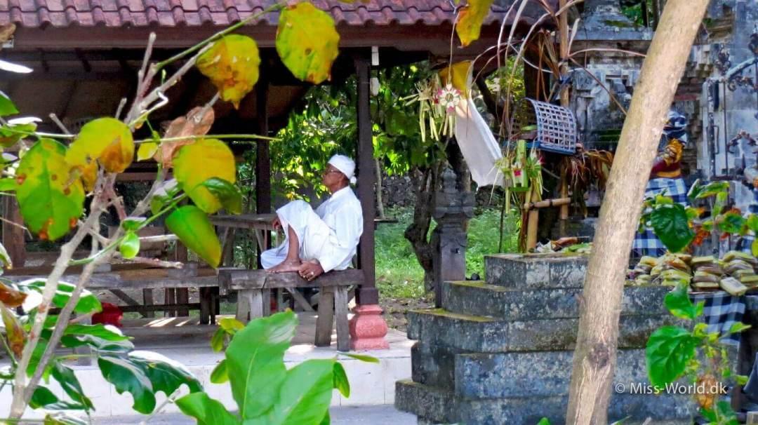 Balinese man resting in Sanur Bali