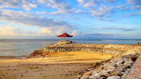 Beach hut, Sanur Beach Bali