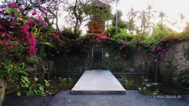Fountains in a garden in Sanur Bali