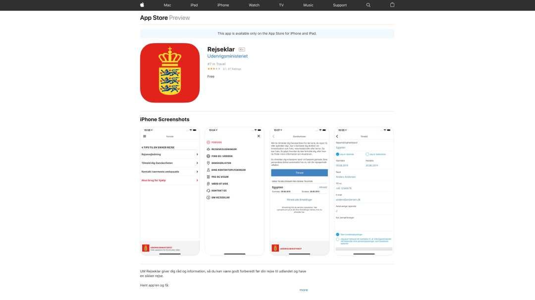 Danskerlisten app itunes