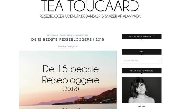 Anbefalet blandt De 15 bedste rejsebloggere i 2018