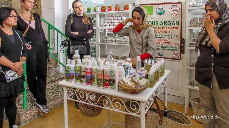 Demonstration af argan produkter