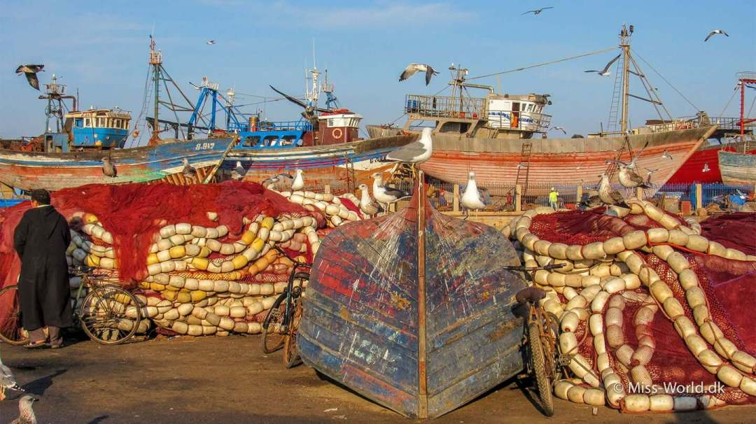 Essaouira Harbour Morocco Ships and Boats