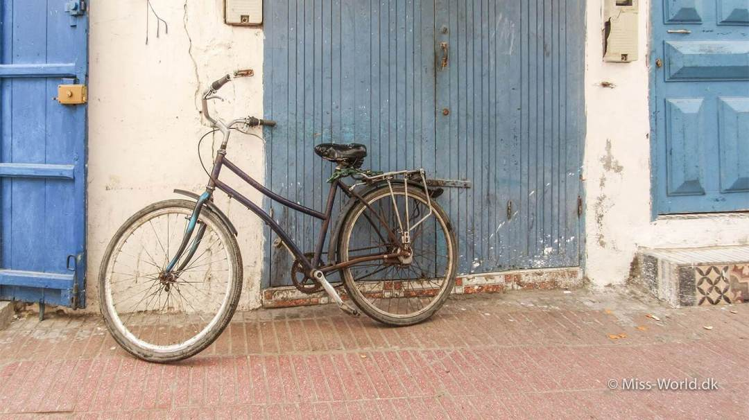 Bike in the medina of Essaouira