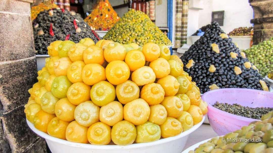 Essaouira Medina Morocco - Lemons and olives