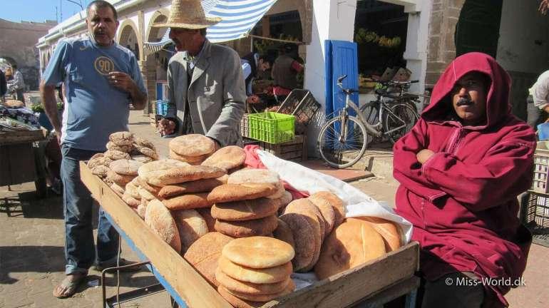 Essaouira Medina Morocco - Man selling bread