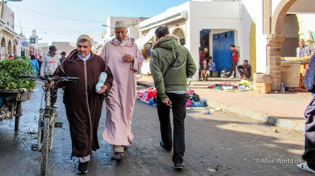 Essaouira Medina Morocco - Moroccan men in the old town of Essaouira