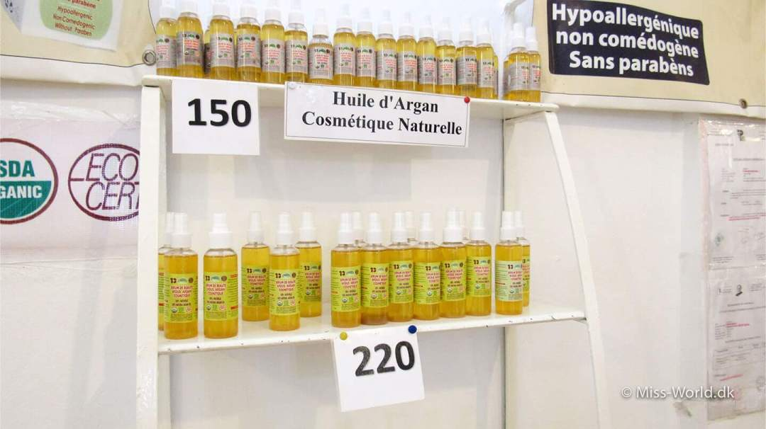 Flasker med argan olie til håret