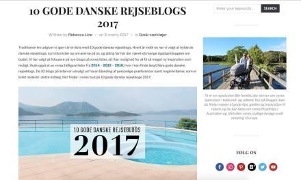 Miss-World anbefalet blandt 10 Gode Danske Rejseblogs